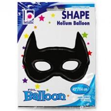 Воздушный фольгированный шарик с гелием ФИГУРА Маска бэтмена чёрная