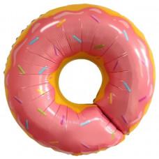 Гелиевый шар фигура 69 69 см. Пончик, Розовый