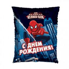 Conver 50см. Подушка С Днем Рождения Человек-Паук  гелиевый шарик