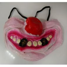 Полу маска страшный клоун зубы череп