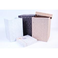 Коробка БОЛЬШАЯ темно коричневый подарочная прямоугольная квадрат