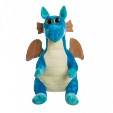 Мягкая игрушка Дракон синий глазастик 25 см.