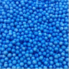 КОНФЕТТИ В ШАР Шарики пенопласт, Голубой(синий) Маленькие
