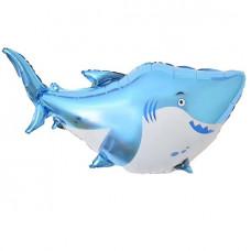 Большая голубая акула ДБ 97 см гелиевый шарик