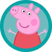 гелиевые шарики и посуда тарелки стаканы колпаки скатерти Свинка Пеппа в Ялте на детский и взрослый день рождение заказать доставку воздушных шаров с гелием в магазине Праздник рядом