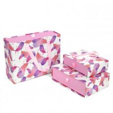 коробка сумочка Перья, бежево-сиреневый В- (2)