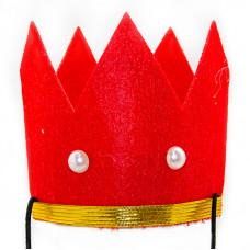 Красная корона детская, фетр ДБ