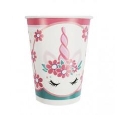 200мл Стаканы бумажные Единорог Pink&Tiffany 6шт