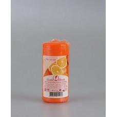 Свеча ароматизированная пеньковая 40х90 апельсин (время горения - 11 ч.)