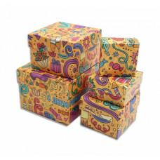 Подарочная коробка С днем рождения Ассорти средняя