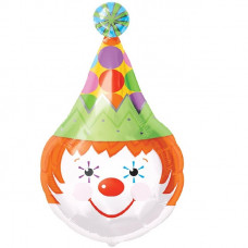Китайский Голова циркового клоуна 71см шар с гелием