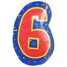А Цифра 9,6 Фигура Мульти  гелиевый шарик