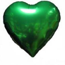 46 см. Сердце зеленое Испания Flexmetal шарик с гелием