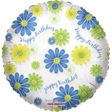 Conver HB круг прозрачный ромашки  гелиевый шарик