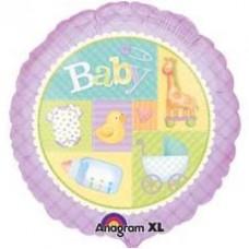 Anagram Круг фиолетовый Детский инвентарь S40 45см.  гелиевый шарик