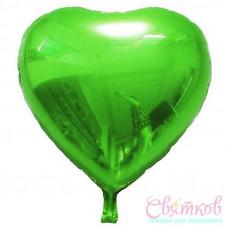 ANAGRAM Сердце металик зеленый Воздушные шары с гелием