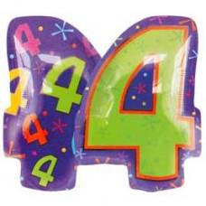 А Цифра 4 Фигура Мульти  гелиевый шарик