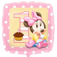 1й День рождения S60 гелиевый шарик малышка Минни маус