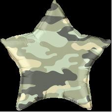 Агура, Звезда, Камуфляж, Зеленый ДБ гелиевый шарик