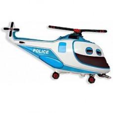 Вертолет полицейский гелиевый шарик