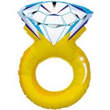 102 см. Кольцо с бриллиантом ДБ гелиевый шарик