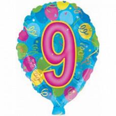 CTI цифра 9  46см гелиевый шарик