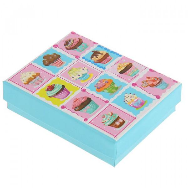 """Анонс-изображение товара коробка подарочная """"пироженное"""" 9,5 х 9,5 х 2,5 см 1820271"""