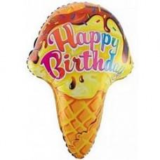 71 см Фигура, Мороженое рожок с ДР дб воздушный шарик с гелием