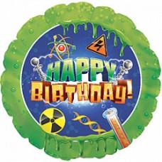 CTI Круг зеленый НВ наука  гелиевый шарик