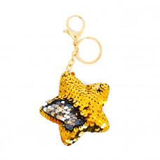 Брелок Звезда с пайетками цвета в ассортименте 13 см