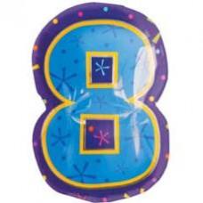 А Цифра 8 Фигура Мульти  гелиевый шарик