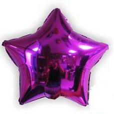 46 см. Звезда Сирень Испания Flexmetal шарик с гелием