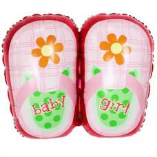 girl  Туфельки для девочки, Розовая 74 см. ДБ гелиевый шарик