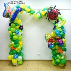Ассиметричная разнокалиберная арка (гирлянда) из шаров