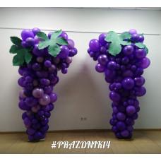 Виноградная лоза из шаров Фотозона декор