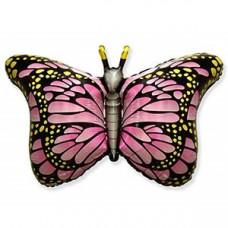 ГЕЛИЕВЫЙ ШАР Бабочка крылья розовые 56*97 см. ВЗ