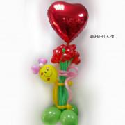 Красивые композиции и наборы их гелиевых шаров для женщин к 8 марта