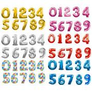 В категории приставлены фольгированные шары цифры, а также латексные шарики с цифрами