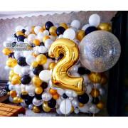 Оформление шарами- подберите варианты украшение воздушными шарами Ялта, арка из шаров Ялта, гирлянда из шаров Ялта